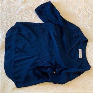 Amanda Uprichard Navy Silk top